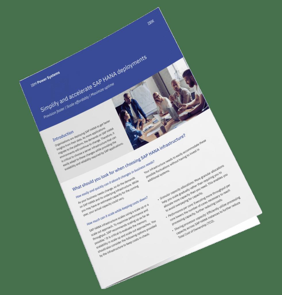 Sneller en eenvoudiger inzicht in data met SAP HANA