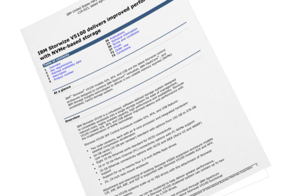 Aankondiging nieuwe generatie IBM Storwize