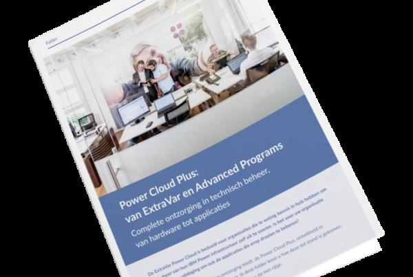 mock up power cloud plus brochure
